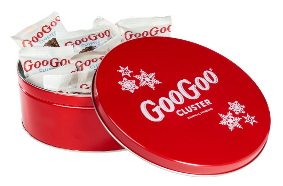 Count Red Holiday Tin